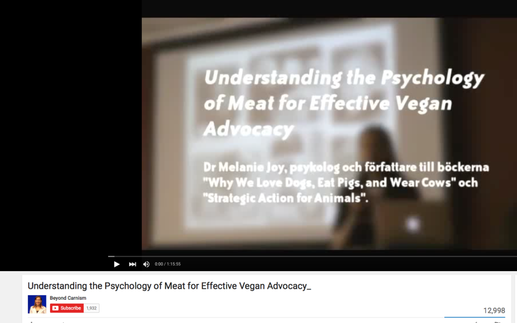 melanie joy phd effective vegan advocacy