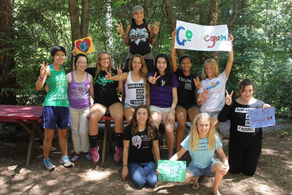 summer camp vegan teen